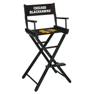 CHICAGO BLACKHAWKS BAR HEIGHT DIRECTORS CHAIR