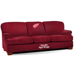 DETROIT REDWINGS FIRST TEAM MICROFIBER SOFA