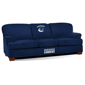 VANCOUVER CANUCKS FIRST TEAM MICROFIBER SOFA