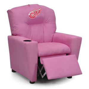 DETROIT REDWINGS PINK KIDS RECLINER MICROFIBER