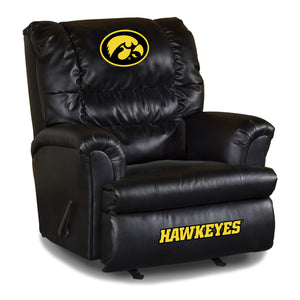 UNIVERSITY OF IOWA LEATHER BIG DADDY RECLINER