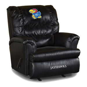 UNIVERSITY OF KANSAS LEATHER BIG DADDY RECLINER