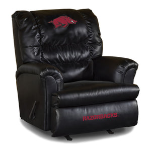 UNIVERSITY OF ARKANSAS LEATHER BIG DADDY RECLINER