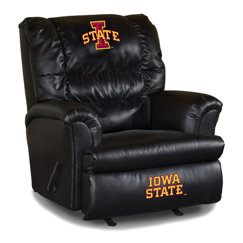 IOWA STATE UNIVERSITY LEATHER BIG DADDY RECLINER