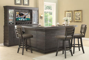 Toscana Distressed Birch Deluxe Back Bar Base