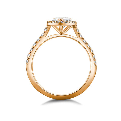 Pear Halo Diamond Ring