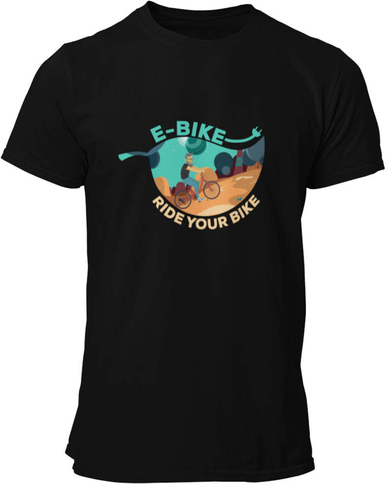 Ride Your Bike Blatt - Herren Shirt - Strombiker