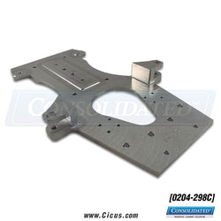 Replacement Chicago Dryer King Edge Index Clamp Center Plate [0204-298C]