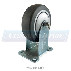 "CIC 4"" Light/Medium Duty Rigid Caster (14TP40GI4406YY)"