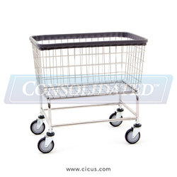 R & B Wire Large Capacity Laundry Cart (200F)
