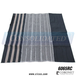 "60"" x 65"" w/ Wire Mesh Cut & Clean Cloth - Royal Blue - Coronet Laundry Textiles [6065RC]"