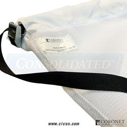 "Coronet Lint Bag w/ Metal Clip & Closed Bottom - 40"" x 5'-6"" (CIC-40X5FTX6BAG)"