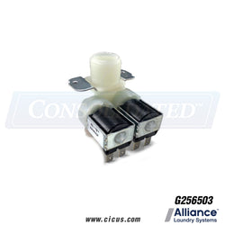 Alliance Laundry Systems 2 Track Water Valve [G256503]