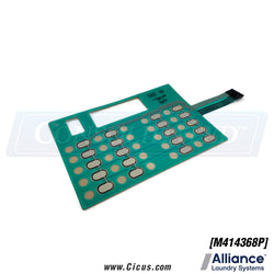 Alliance Laundry Systems Overlay Membrane Switch OPL [M414368P]
