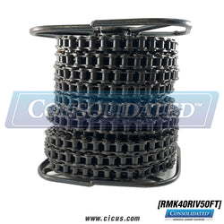 #40 Roller Chain - 50 Foot Spool [RMK40RIV50FT]