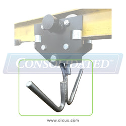 Speed Check Trolley Replacement Hook - Double / Perpendicular (SC100-PRHK)