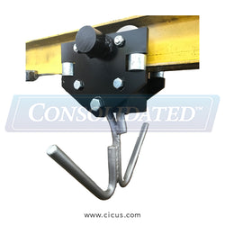 Speed Check Replacement Trolley - Double Hook / Perpendicular (SC100-T-PR)