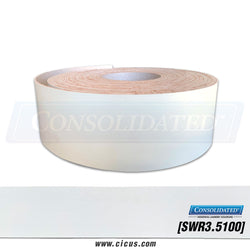 "Smooth White Rubber PVC 3.5"" x 100' [SWR3.5100]"