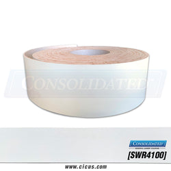"Smooth White Rubber PVC 4"" x 100' [SWR4100]"