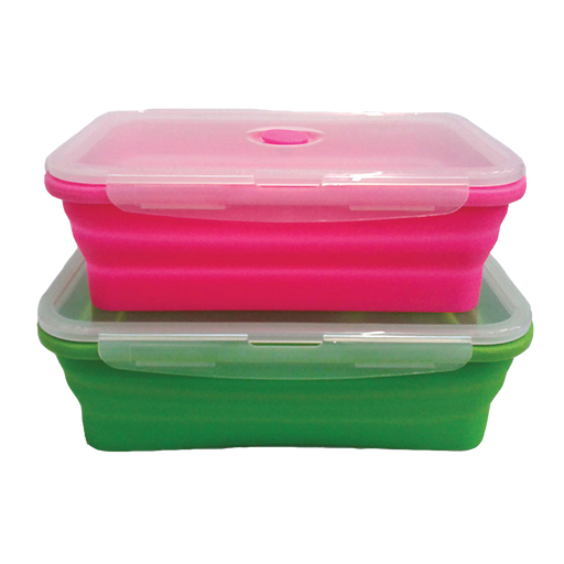 FLAT STACKS FOOD STORAGE CONTAINER SET (2 RECTANGLE LARGE)