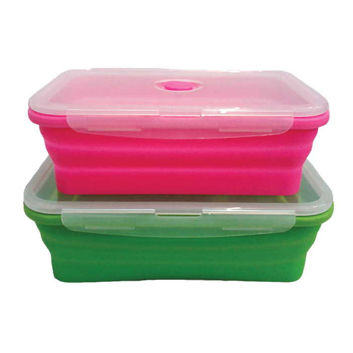 FLAT STACKS FOOD STORAGE CONTAINER SET (2 RECTANGLE LARGE) - oceansales.ca