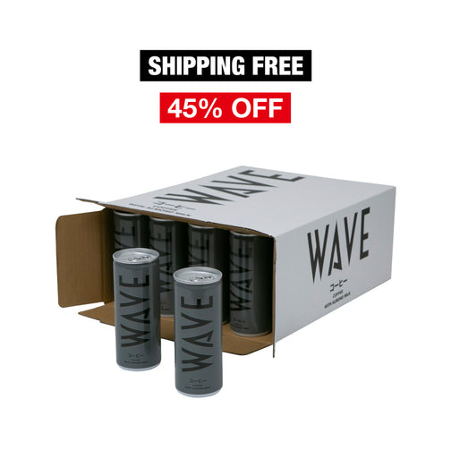 WAVE COFFEE WITH ALMOND MILK 30CANS