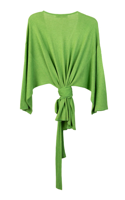 Billiard green cache coeur sweaterblouse