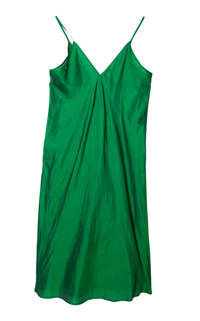 Billiard green, spaghetti shoulderstrap dress