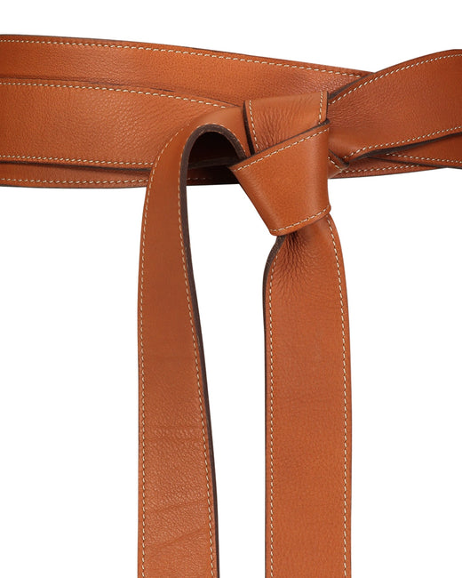 Long leather belt