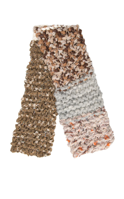 Chunky fabric hand knitted scarf