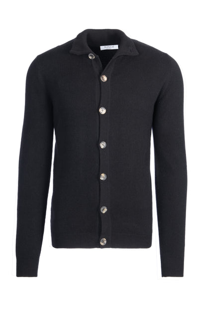 Collared cardigan with buttons