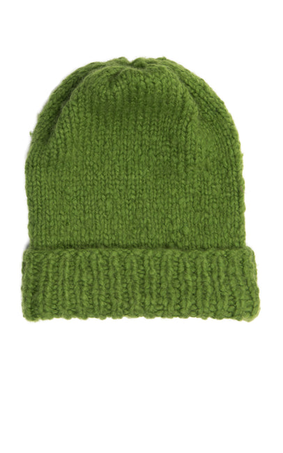 Hand made green hat