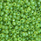 11/0 Miyuki SEED Bead - Semi-Frosted Pea Green Lined Chartreuse