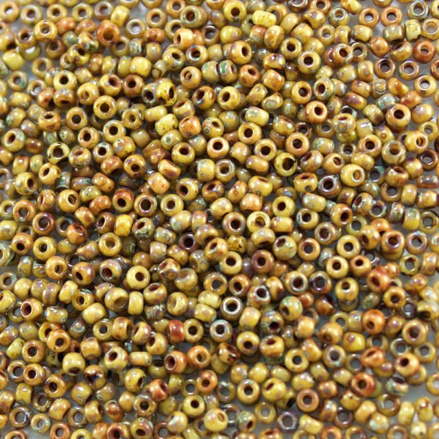 11/0 Miyuki SEED Bead - Opaque Brown Picasso
