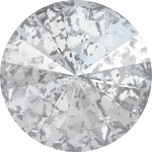 Swarovski 1122 14mm Foiled RIVOLI - Crystal Silver Patina