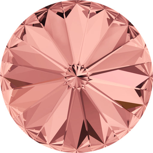Swarovski 1122 14mm Foiled RIVOLI - Blush Rose