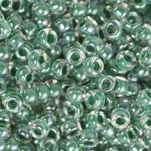 15/0 Miyuki SEED Bead - Forest Green Lined Crystal