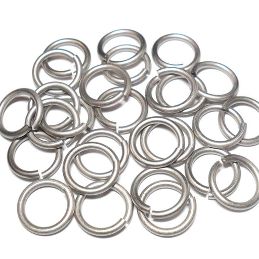 16swg (1.6mm) 3/8in. (10.5mm) ID 6.56AR Etched Titanium Jump Rings