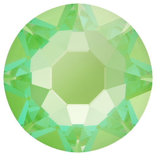 Swarovski 2078 XIRIUS ROSE SS20 Silver-Foiled Hotfix Flat Backs - Electric Green Delite***