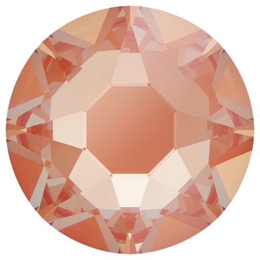 Swarovski 2078 XIRIUS ROSE SS20 Silver-Foiled Hotfix Flat Backs - Electric Orange Delite***