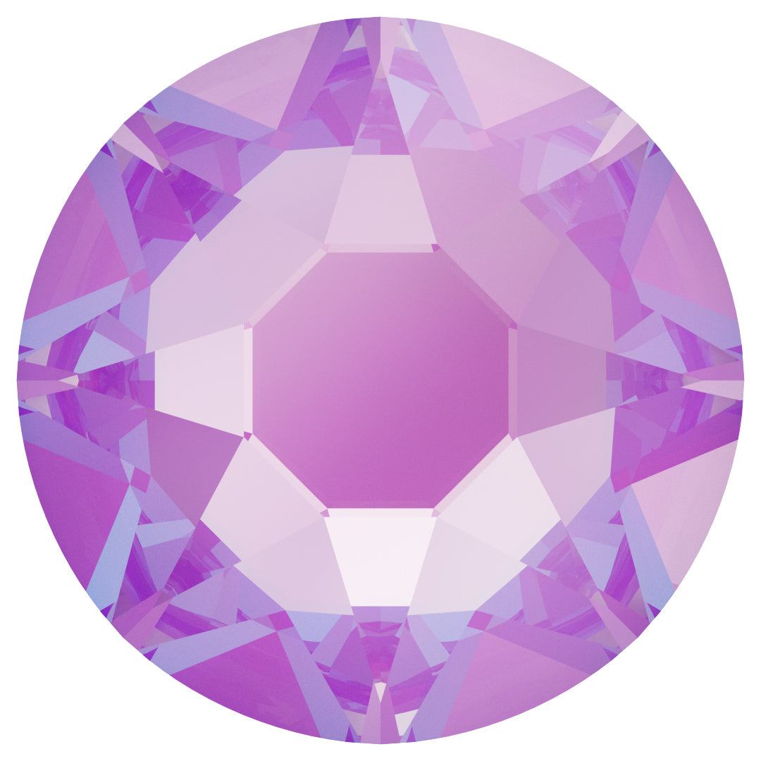 Swarovski 2078 XIRIUS ROSE SS20 Silver-Foiled Hotfix Flat Backs - Electric Violet Delite***
