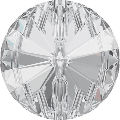 Swarovski 3015 12mm Rivoli Button - Crystal Foiled