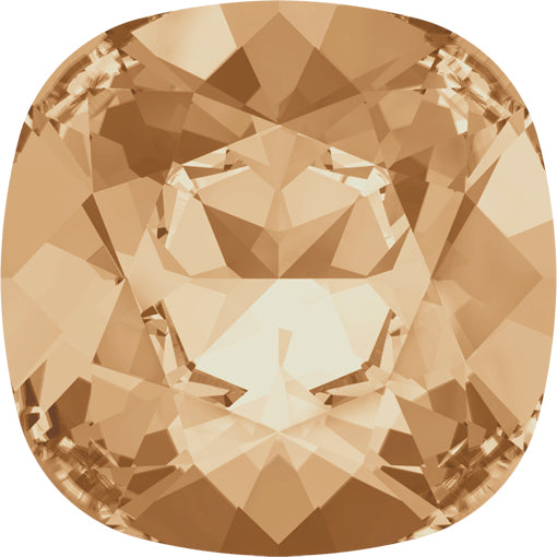 Swarovski 4470 10mm CUSHION Fancy Stone - Crystal Golden Shadow
