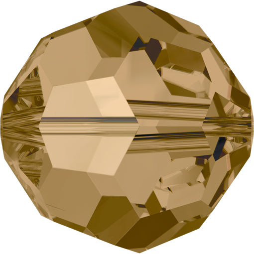 Swarovski 5000 8mm FACETED ROUND Bead - Crystal Bronze Shade