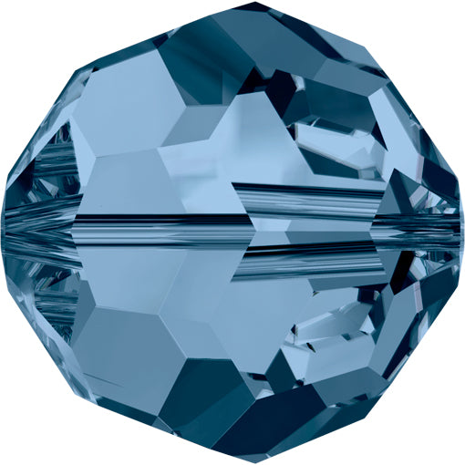 Swarovski 5000 8mm FACETED ROUND Bead - Montana