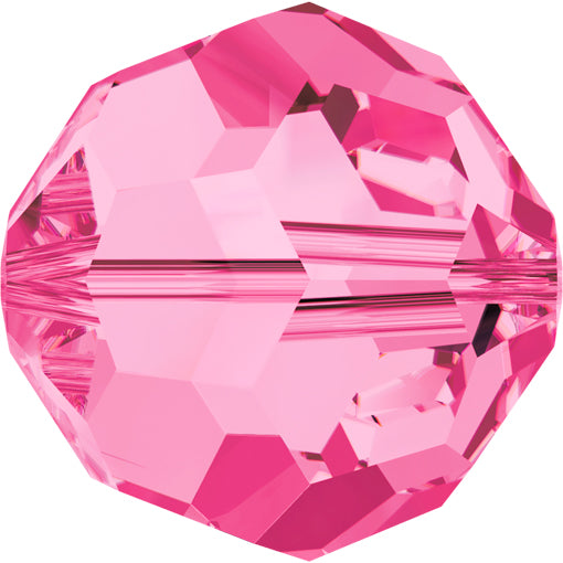 Swarovski 5000 8mm FACETED ROUND Bead - Rose