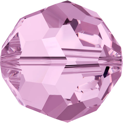 Swarovski 5000 8mm FACETED ROUND Bead - Light Amethyst