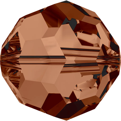 Swarovski 5000 8mm FACETED ROUND Bead - Smoked Topaz