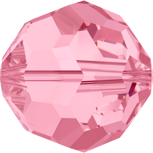 Swarovski 5000 6mm FACETED ROUND Bead - Light Rose