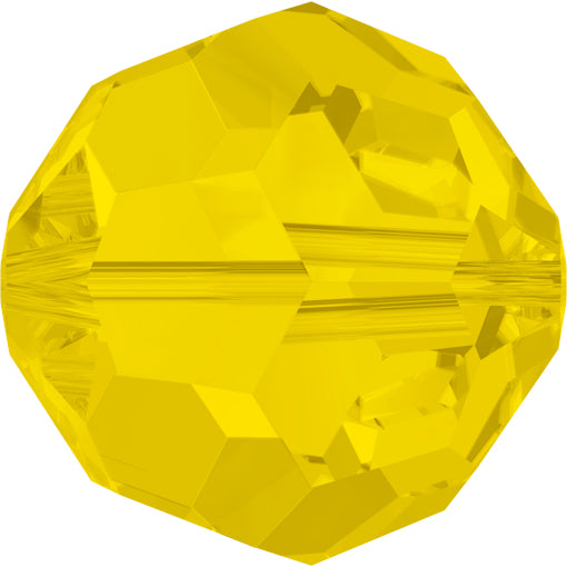 Swarovski 5000 8mm FACETED ROUND Bead - Yellow Opal